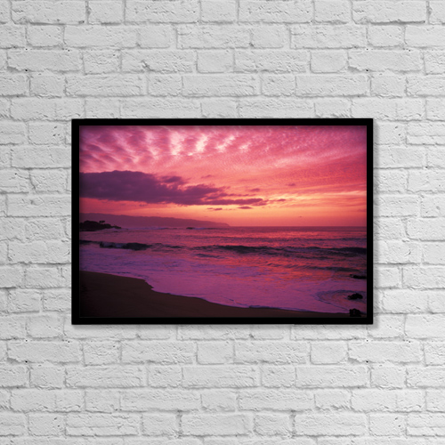 "Printscapes Wall Art: 18"" x 12"" Canvas Print With Black Frame - Nature by Chris Abraham"