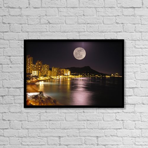 """Printscapes Wall Art: 18"""" x 12"""" Canvas Print With Black Frame - Travel by Tomas del Amo"""