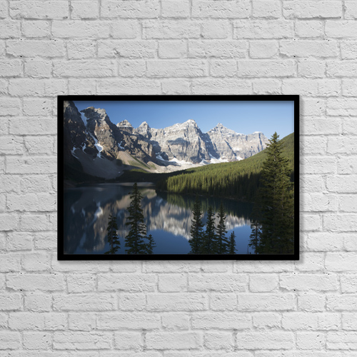 "Printscapes Wall Art: 18"" x 12"" Canvas Print With Black Frame - Scenic by Michael Interisano"