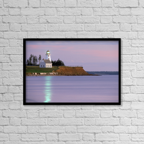 """Printscapes Wall Art: 18"""" x 12"""" Canvas Print With Black Frame - Scenic by David Nunuk"""