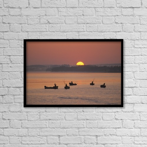"""Printscapes Wall Art: 18"""" x 12"""" Canvas Print With Black Frame - Scenic by John Sylvester"""