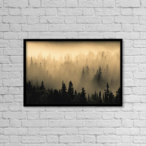 "Printscapes Wall Art: 18"" x 12"" Canvas Print With Black Frame - Scenic by Ron Watts"