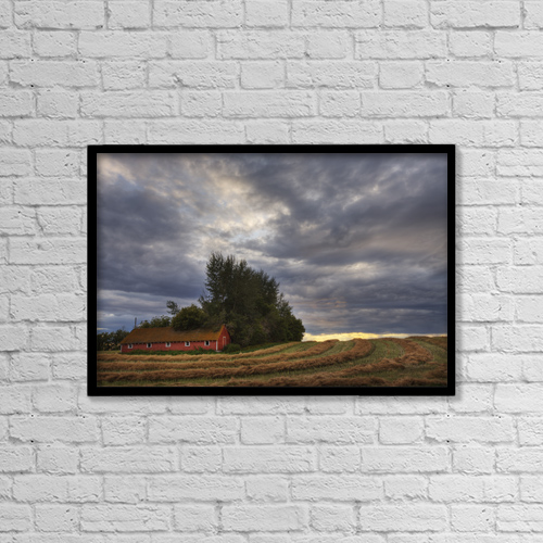 "Printscapes Wall Art: 18"" x 12"" Canvas Print With Black Frame - Scenic by Dan Jurak"