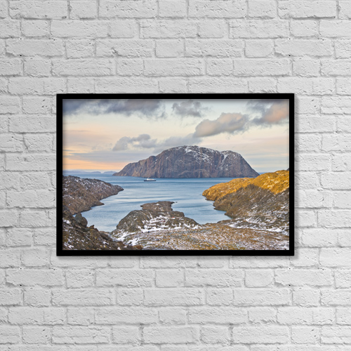 """Printscapes Wall Art: 18"""" x 12"""" Canvas Print With Black Frame - Scenic by Jerry Kobalenko"""