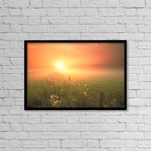 "Printscapes Wall Art: 18"" x 12"" Canvas Print With Black Frame - Fv0686, Darwin Wiggett by Darwin Wiggett"