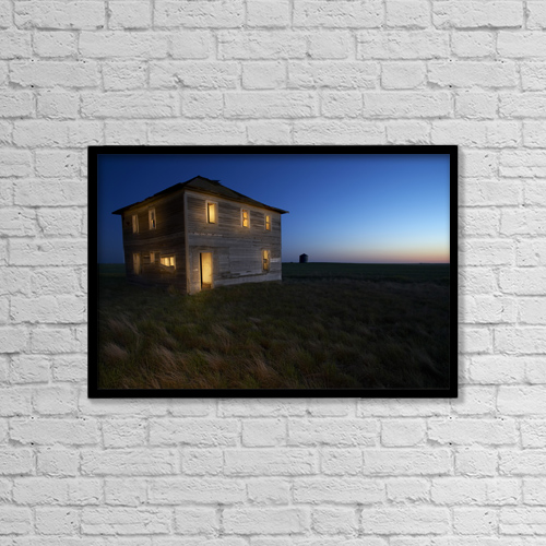 """Printscapes Wall Art: 18"""" x 12"""" Canvas Print With Black Frame - Other by Gemstone Images"""