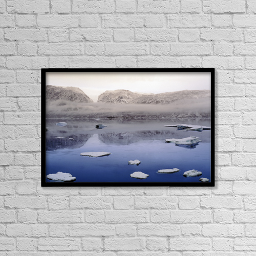 "Printscapes Wall Art: 18"" x 12"" Canvas Print With Black Frame - Scenic by Jerry Kobalenko"