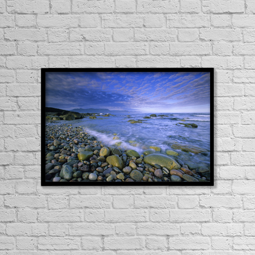"Printscapes Wall Art: 18"" x 12"" Canvas Print With Black Frame - Scenic by John Sylvester"