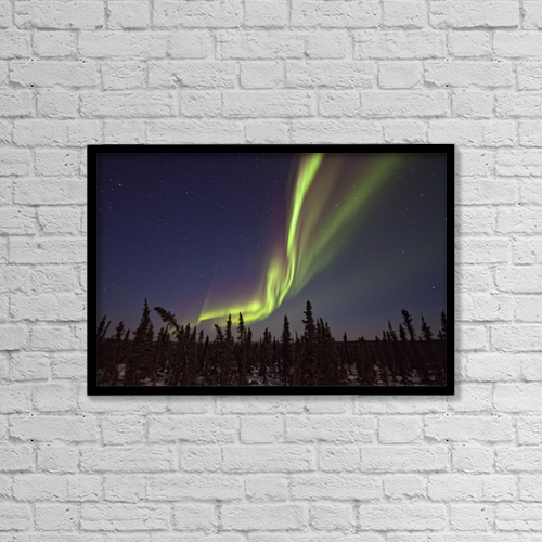 """Printscapes Wall Art: 18"""" x 12"""" Canvas Print With Black Frame - Travel by Robert Postma"""