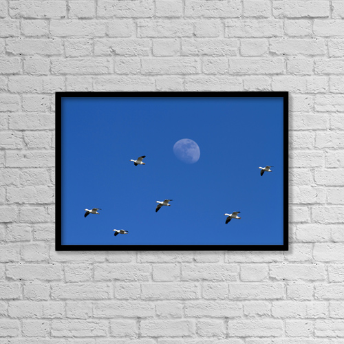 "Printscapes Wall Art: 18"" x 12"" Canvas Print With Black Frame - Creative Imagery by Philippe Henry"