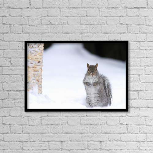 """Printscapes Wall Art: 18"""" x 12"""" Canvas Print With Black Frame - Creative Imagery by Philippe Henry"""
