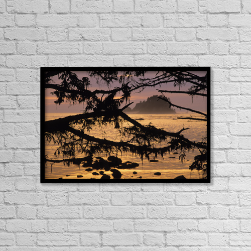 """Printscapes Wall Art: 18"""" x 12"""" Canvas Print With Black Frame - Scenic by Ron Watts"""