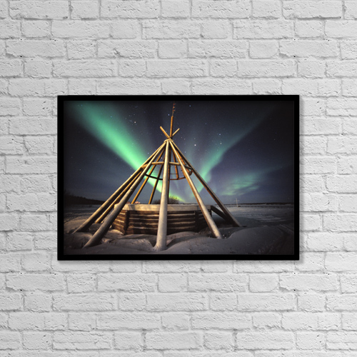 "Printscapes Wall Art: 18"" x 12"" Canvas Print With Black Frame - Objects by Robert Postma"