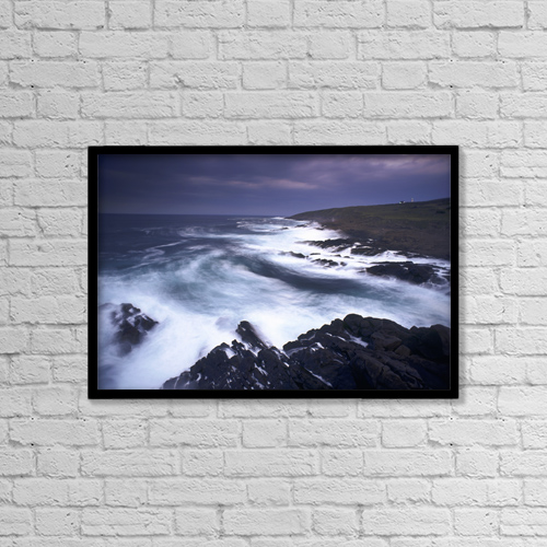 "Printscapes Wall Art: 18"" x 12"" Canvas Print With Black Frame - Scenic by David Nunuk"