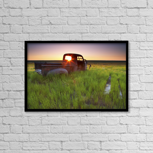 "Printscapes Wall Art: 18"" x 12"" Canvas Print With Black Frame - Scenic by Gemstone Images"
