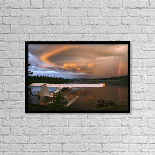 "Printscapes Wall Art: 18"" x 12"" Canvas Print With Black Frame - Other by Robert Postma"