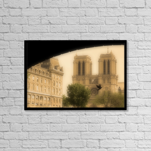 "Printscapes Wall Art: 18"" x 12"" Canvas Print With Black Frame - Travel by John Sylvester"