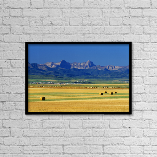 "Printscapes Wall Art: 18"" x 12"" Canvas Print With Black Frame - Scenic by Mike Grandmaison"