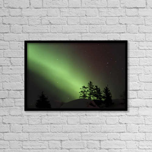 """Printscapes Wall Art: 18"""" x 12"""" Canvas Print With Black Frame - Scenic by Dave Brosha"""