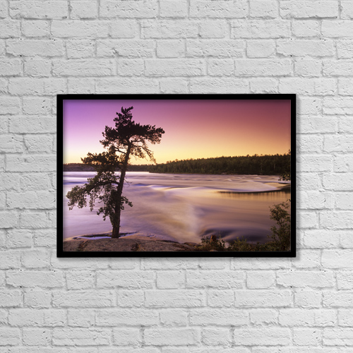 "Printscapes Wall Art: 18"" x 12"" Canvas Print With Black Frame - Scenic by Dave Reede"