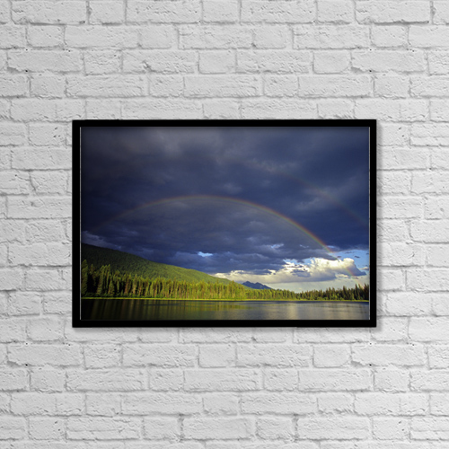 "Printscapes Wall Art: 18"" x 12"" Canvas Print With Black Frame - Scenic by Chris Harris"