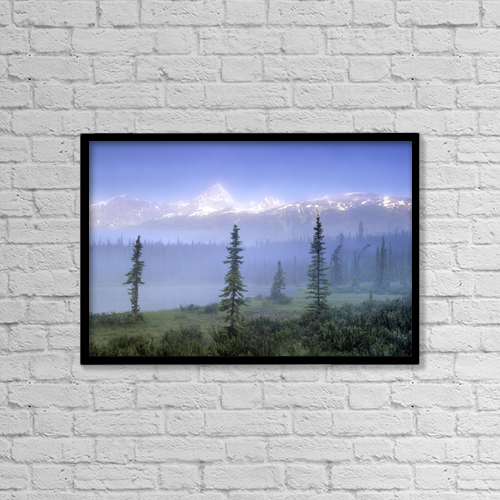 "Printscapes Wall Art: 18"" x 12"" Canvas Print With Black Frame - Mt by Darwin Wiggett"