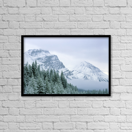 "Printscapes Wall Art: 18"" x 12"" Canvas Print With Black Frame - Banff National Park, Alberta, Canada by Darwin Wiggett"