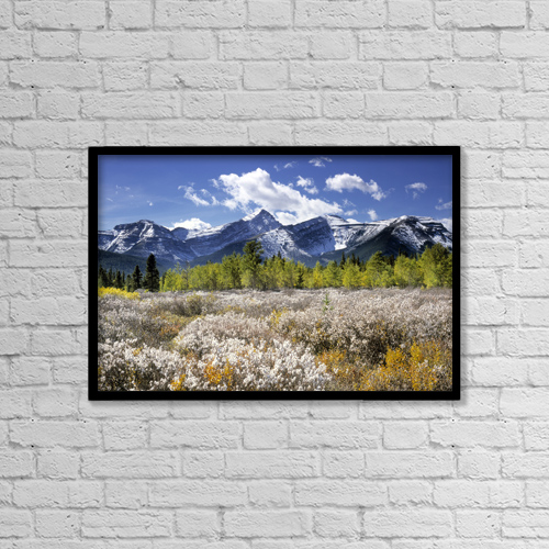 "Printscapes Wall Art: 18"" x 12"" Canvas Print With Black Frame - Scenic by Darwin Wiggett"