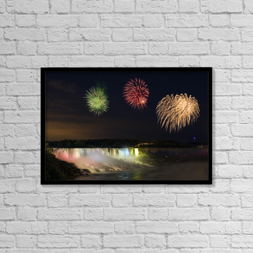 "Printscapes Wall Art: 18"" x 12"" Canvas Print With Black Frame - Travel by Darwin Wiggett"