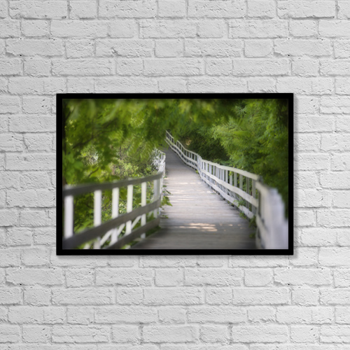 "Printscapes Wall Art: 18"" x 12"" Canvas Print With Black Frame - Nature by Darwin Wiggett"