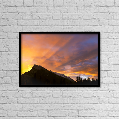 """Printscapes Wall Art: 18"""" x 12"""" Canvas Print With Black Frame - Travel by Ken Gillespie"""