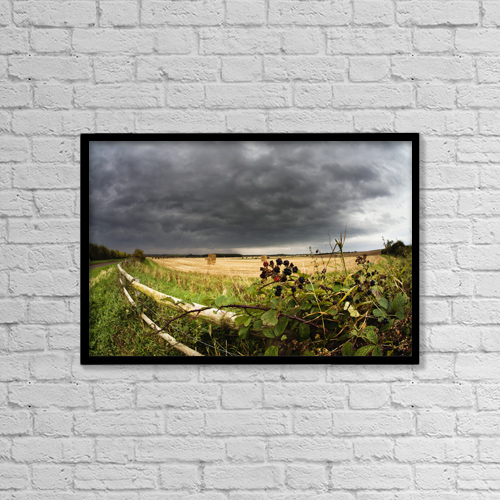 """Printscapes Wall Art: 18"""" x 12"""" Canvas Print With Black Frame - Agriculture by John Short"""