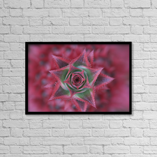 """Printscapes Wall Art: 18"""" x 12"""" Canvas Print With Black Frame - Travel by Peter Van Rhijn"""