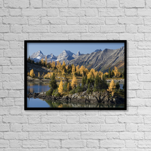"Printscapes Wall Art: 18"" x 12"" Canvas Print With Black Frame - Scenic by Peter Van Rhijn"