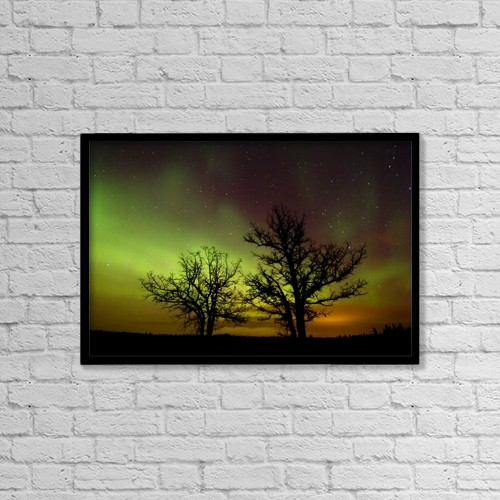 """Printscapes Wall Art: 18"""" x 12"""" Canvas Print With Black Frame - Nature by Mike Grandmaison"""