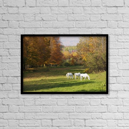 """Printscapes Wall Art: 18"""" x 12"""" Canvas Print With Black Frame - Scenic by Yves Marcoux"""