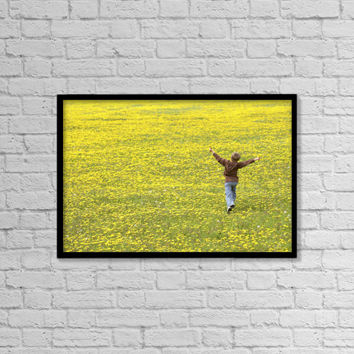 """Printscapes Wall Art: 18"""" x 12"""" Canvas Print With Black Frame - Lifestyle by Gemstone Images"""