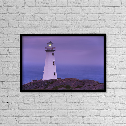 "Printscapes Wall Art: 18"" x 12"" Canvas Print With Black Frame - Other by Yves Marcoux"