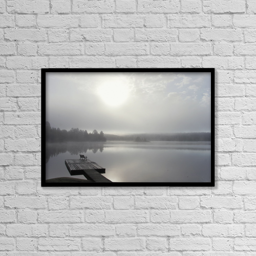 "Printscapes Wall Art: 18"" x 12"" Canvas Print With Black Frame - Scenic by Doug Hamilton"