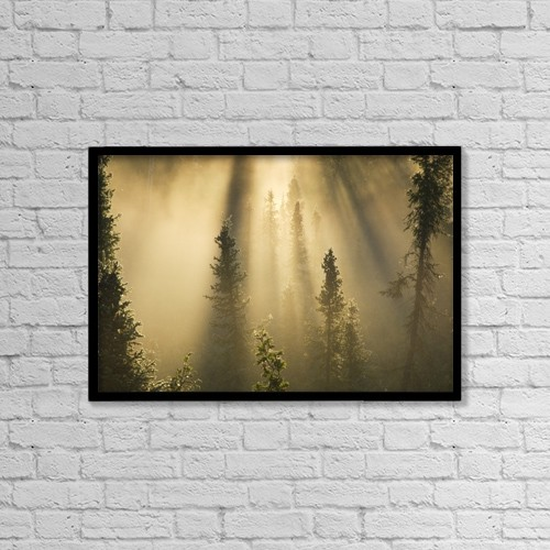 "Printscapes Wall Art: 18"" x 12"" Canvas Print With Black Frame - Scenic by Philippe Henry"