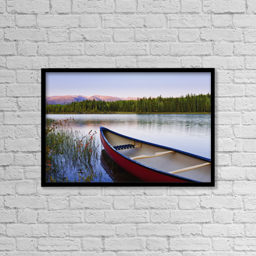 "Printscapes Wall Art: 18"" x 12"" Canvas Print With Black Frame - Scenic by Yves Marcoux"