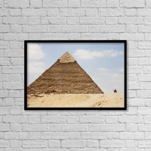 """Printscapes Wall Art: 18"""" x 12"""" Canvas Print With Black Frame - Travel by Peter Langer"""