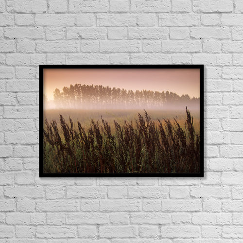 """Printscapes Wall Art: 18"""" x 12"""" Canvas Print With Black Frame - Scenic by Dave Reede"""