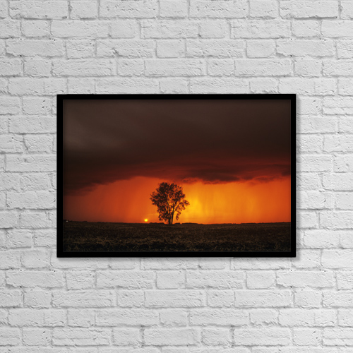 "Printscapes Wall Art: 18"" x 12"" Canvas Print With Black Frame - Other by Dave Reede"