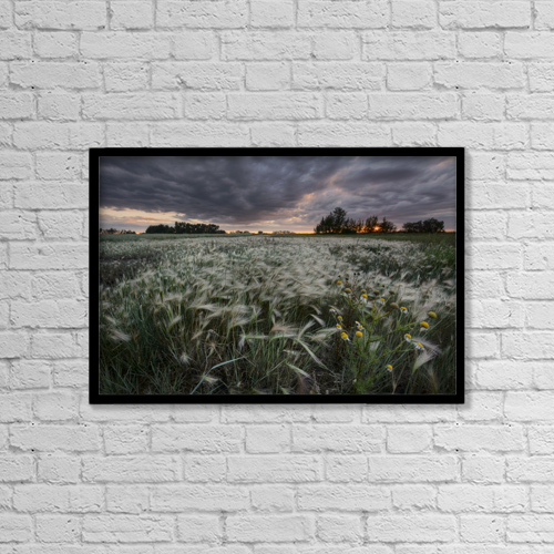 "Printscapes Wall Art: 18"" x 12"" Canvas Print With Black Frame - Scenic by Dan Jurak"