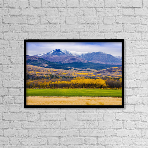"Printscapes Wall Art: 18"" x 12"" Canvas Print With Black Frame - Minor Range Along Klondike Highway, Yukon by Yves Marcoux"