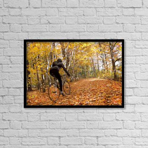 "Printscapes Wall Art: 18"" x 12"" Canvas Print With Black Frame - Sports and Recreation by Peter Mintz"