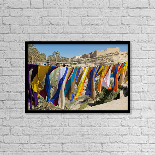 "Printscapes Wall Art: 18"" x 12"" Canvas Print With Black Frame - Objects by Ron Watts"