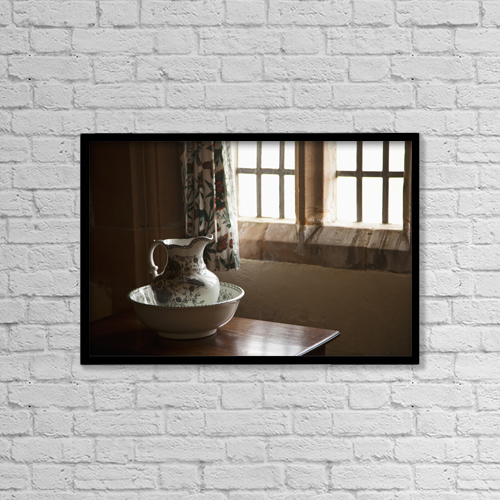"Printscapes Wall Art: 18"" x 12"" Canvas Print With Black Frame - Architectural Interiors by John Short"
