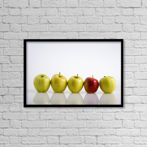 """Printscapes Wall Art: 18"""" x 12"""" Canvas Print With Black Frame - Food by Michael Interisano"""